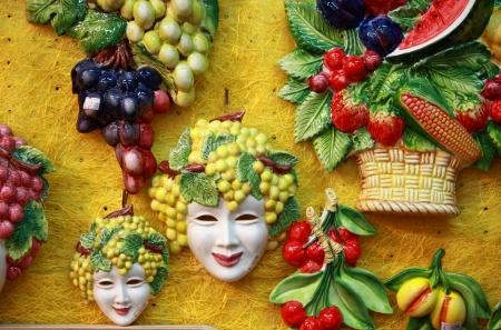 bacchus: Bacchus masks and fruit decorations