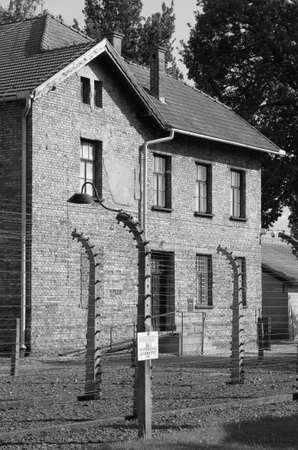 Oswiecim, Poland - July 23, 2011: Barrack at Auschwitz concentration camp Stock Photo - 16462951