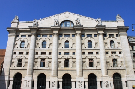 Milan, Italy - April 10, 2010: The Italian Stock Exchange
