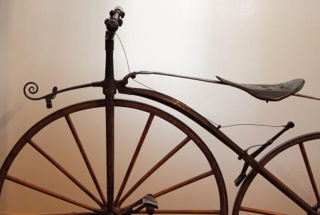 Detailed view of an old times bicycle photo