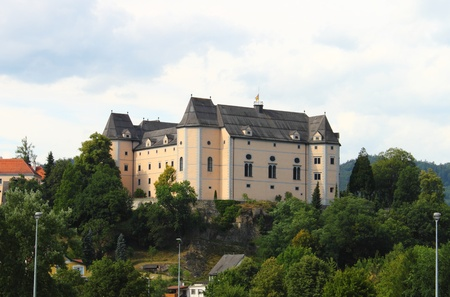 Grein, Austria - July 19, 2011: Landscape view of Greinburg Castle Stock Photo - 16743413