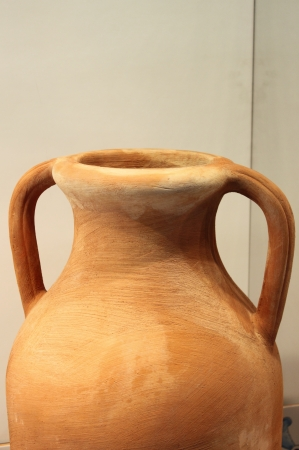 particularly: Clay pottery called Amphora used in ancient times to transport goods, particularly wine and food