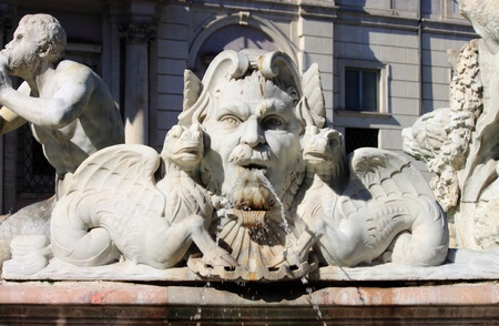 Moor fountain in Navona Square of Rome, Italy photo