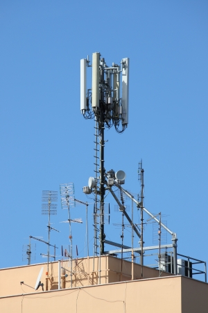 Antenna tower for mobile network photo