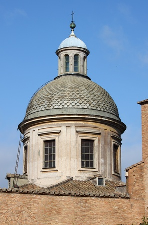Renaissance dome of a church in Rome, Italy photo