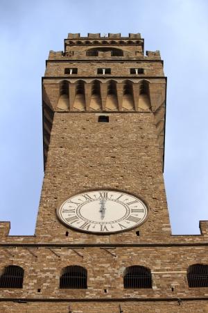 signoria square: Palazzo Vecchio in Signoria Square of Florence. Italy