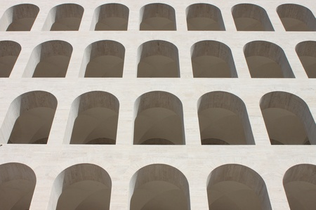 Squared Colosseum in Rome, Italy photo