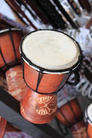 djembe drum: Wooden african djembe drum