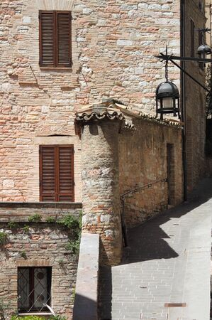 Medieval corner in Assisi, Italy photo