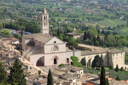 Saint Claire Cathedral in Assisi, Italy