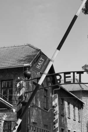 Oswiecim, Poland - July 23, 2011: Entrance gate to Auschwitz concentration camp