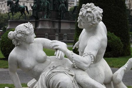 nymphet: Triton and Nereid fountain in Vienna, Austria Stock Photo