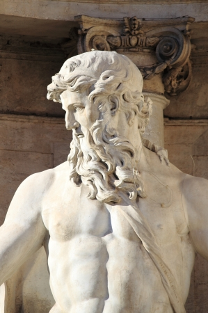 Oceanus in the Trevi Fountain of Rome, Italy