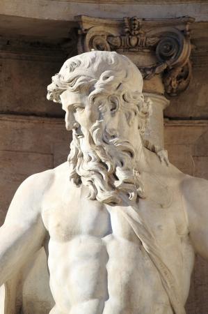 Oceanus in the Trevi Fountain of Rome, Italy