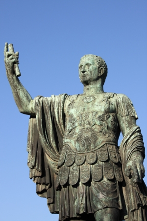 despotism: Statue of emperor Nerva in Rome, Italy Stock Photo