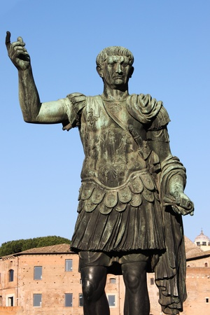 absolutism: Statue of emperor Trajan in Rome, Italy
