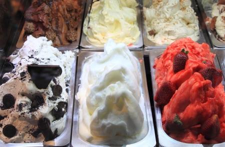 Different flavors of italian ice cream