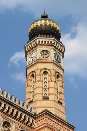 zionism: Tower of the Great Synagogue of Budapest, Hungary