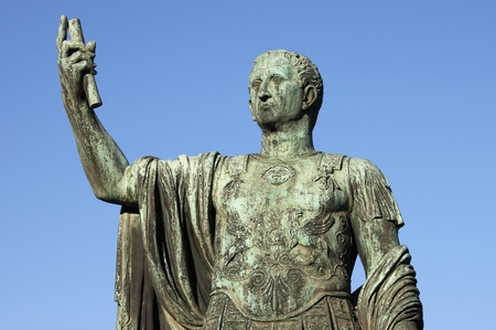 Statue of emperor Nerva in Rome, Italy Stock Photo
