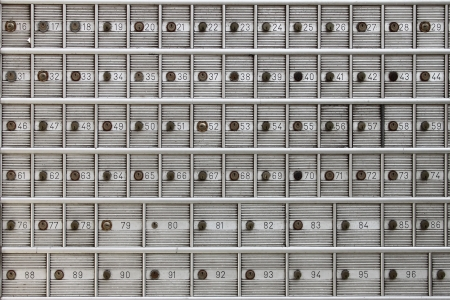 Safe deposit boxes in a bank agency