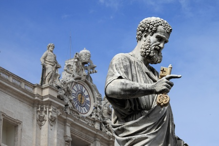 Statue of Saint Peter the Apostle in Vatican City State photo