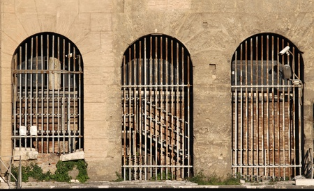 External view of a prison building photo