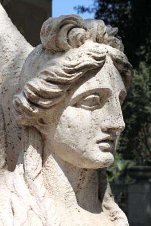 Sphinx statue in Villa Torlonia of Rome, Italy photo