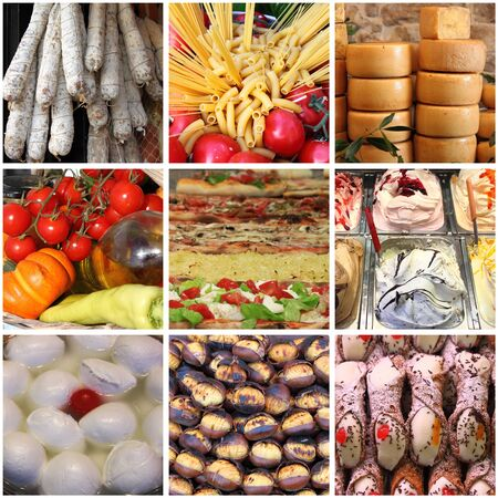 Collage of italian typical food photo