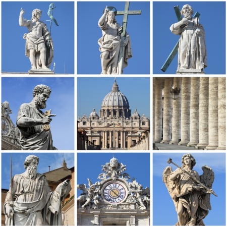 Collage of urban scenes in Vatican City State photo