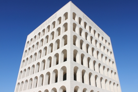 Squared Colosseum in Rome, Italy