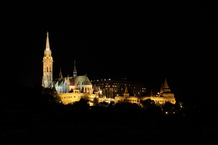 Budapest, Hungary - July 2, 2012: Budapest castle at night