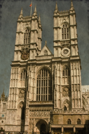 Vintage image of the Westminster Abbey in London, UK photo