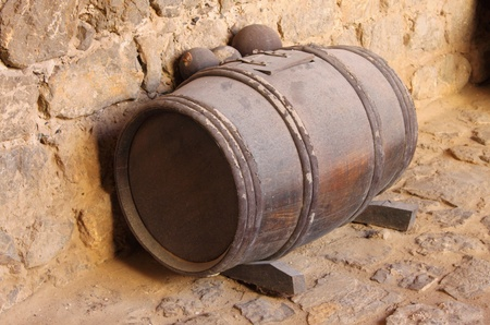 Gunpowder barrel with a clipping path photo