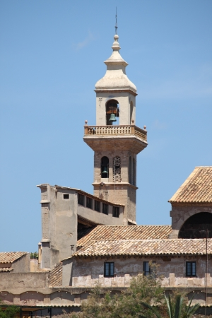 Bell tower of the Convent of Santa Clara in Palma de Mallorca, Spain photo