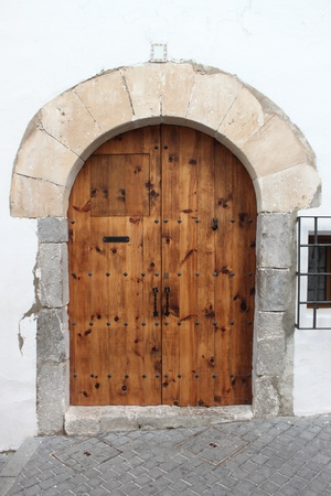 Wooden medieval style front door Stock Photo - 19492306