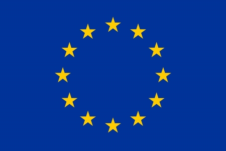 Officiële vlag van de Europese Unie (EU) Stockfoto