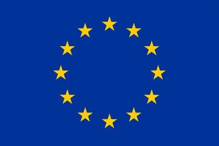Official flag of European Union (EU) Standard-Bild