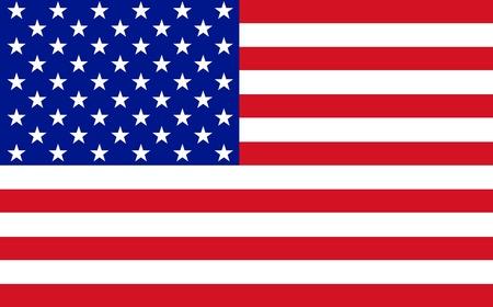 Official flag of USA nation Standard-Bild