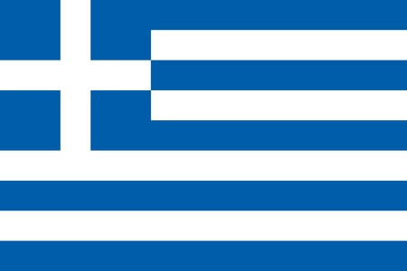 Official flag of Greece nation Archivio Fotografico