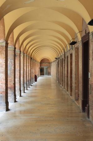 Colonnato a Urbino, Italia Archivio Fotografico - 19623322