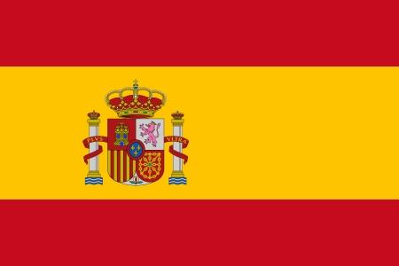 スペインの国家の公式の旗