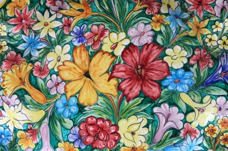 sicilian: Closeup of a traditional colorful sicilian pottery