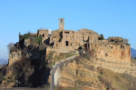 Civita di Bagnoregio, the dying city near Rome, Italy Stock Photo