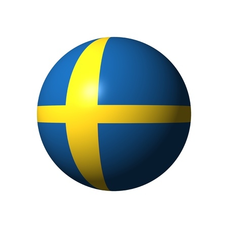 Sphere with flag of Sweden nation Stock Photo - 21583996