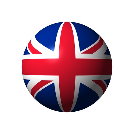Sphere with flag of UK nation photo