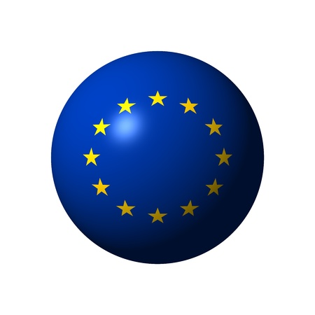 Sphere with flag of European Union  EU