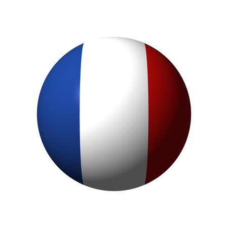 Sphere with flag of France nation