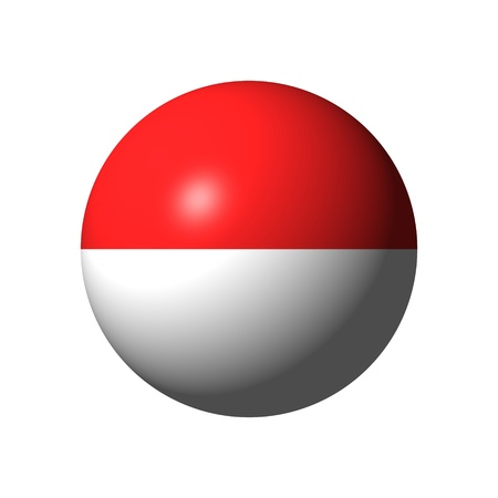 Sphere with flag of Indonesia nation