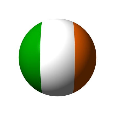 Sphere with flag of Ireland nation Stock Photo - 21584074