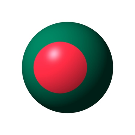 Sphere with official flag of Bangladesh nation photo
